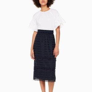 Kate Spade Madison Ave. Zurie Skirt Size 6 Navy